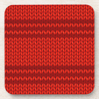 Red Knit Drink Coaster