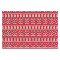 Red Knit Jumper ugly Sweater Pattern Tissue Paper