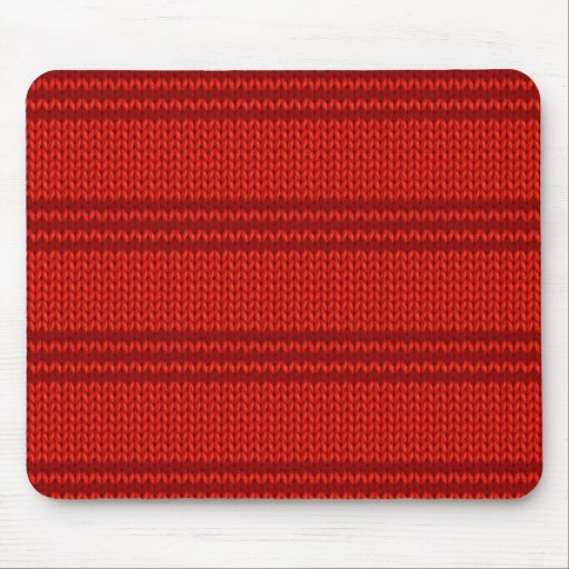 Red Knit Mouse Pads