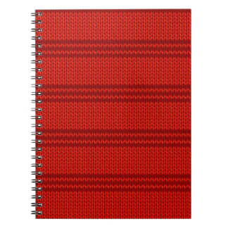 Red Knit Notebook