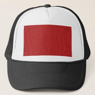 Red Knit Stockinette Stitch Pattern Trucker Hat