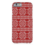 Red Knitted Stars Barely There iPhone 6 Case
