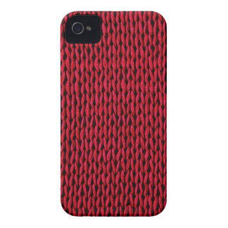 Red Knitted Texture Case-Mate iPhone 4 Case