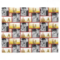 Red Knot Double Happiness Chinese Wedding Blanket