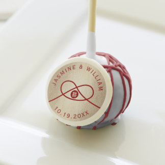 Red Knot Double Happiness Chinese Wedding Cake Pop