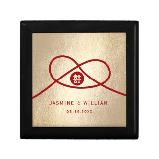 Red Knot Double Happiness Chinese Wedding Gift Box