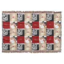 Red Knot Double Happiness Chinese Wedding Throw