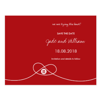 Red Knot + Double Happiness Save The Date Postcard