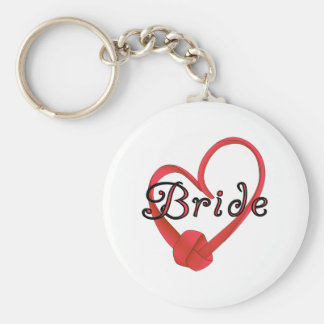 Red Knot Heart Bride Key Chain