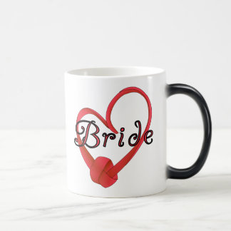 Red Knot Heart Bride Magic Mug