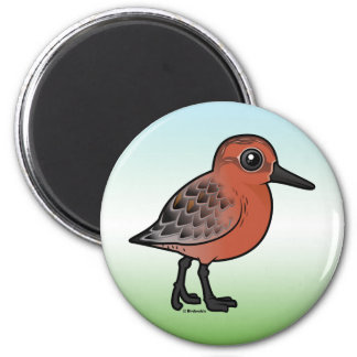 Red Knot 2 Inch Round Magnet