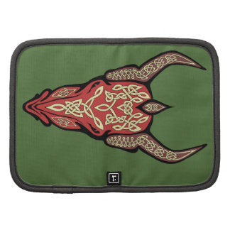 Red Knotty Dragon on Green Organizers