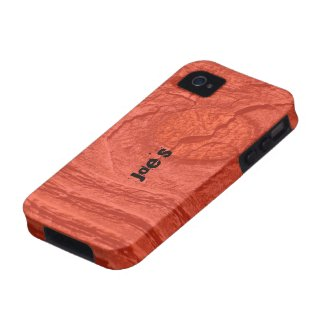 Red Knotty Wood Vibe iPhone 4 Cover