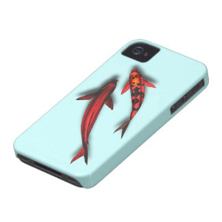 "Red Koi Fish Blackberry Bold ""Barely There"" iPhone 4 Case-Mate Cases"