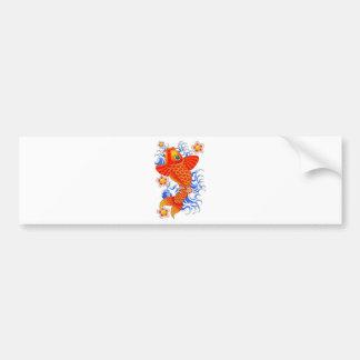 RED KOI FISH DESIGN BUMPER STICKER