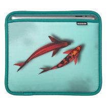 Red Koi Fish iPad Travel Sleeve