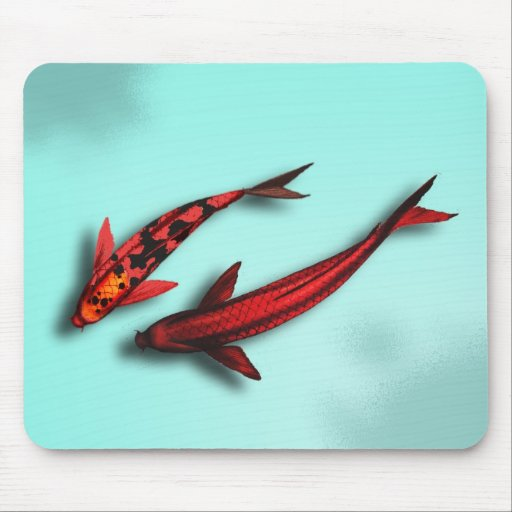 Red Koi Fish Mouse Pad