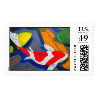 RED KOI POSTAGE STAMPS