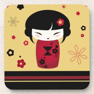 Red Kokeshi Coaster