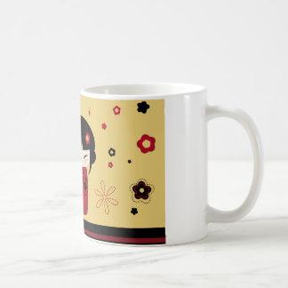 Red Kokeshi Coffee Mug