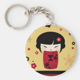 Red Kokeshi Keychain