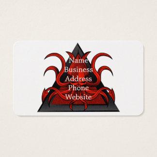 red kraken illustration business card