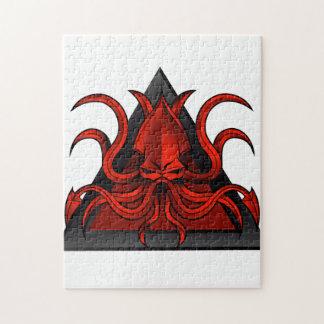 red kraken illustration jigsaw puzzle