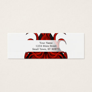 red kraken illustration mini business card