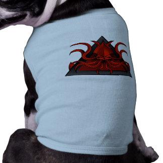 red kraken illustration tee