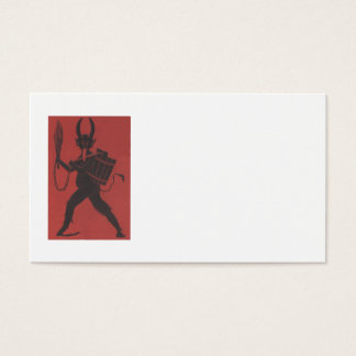 Red Krampus Basket Switch Chain Tongue Business Card