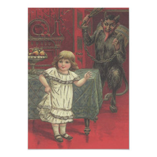 Red Krampus Girl Dining Room Switch Card