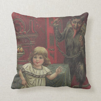 Red Krampus Girl Dining Room Switch Throw Pillow