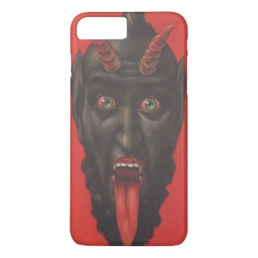 Halloween Themed Red Krampus Horns Tongue Scary iPhone 8 Plus/7 Plus Case