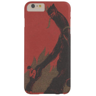 Red Krampus Kidnap Fire Woman Barely There iPhone 6 Plus Case