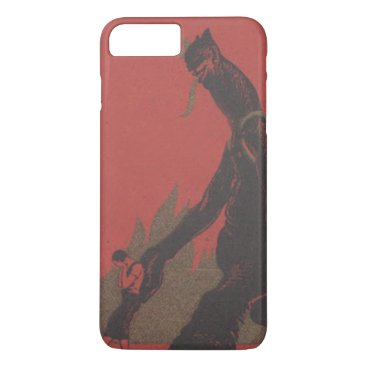 Halloween Themed Red Krampus Kidnap Fire Woman iPhone 8 Plus/7 Plus Case