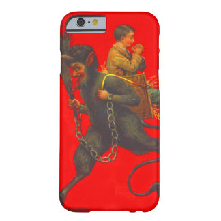 Red Krampus Kidnapping Praying Boy Barely There iPhone 6 Case
