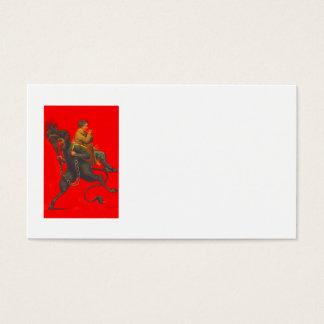 Red Krampus Kidnapping Praying Boy Business Card