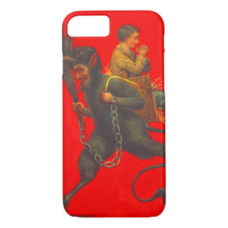 Red Krampus Kidnapping Praying Boy iPhone 8/7 Case
