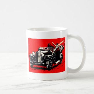 Red Krampus Kidnapping Women Car Coffee Mug