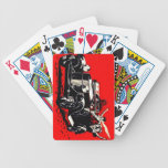 Red Krampus Kidnapping Women Car Bicycle Playing Cards