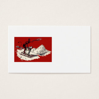 Red Krampus Sleigh Mountain Switch Kidnapped Business Card