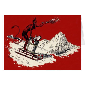 Red Krampus Sleigh Mountain Switch Kidnapped Card