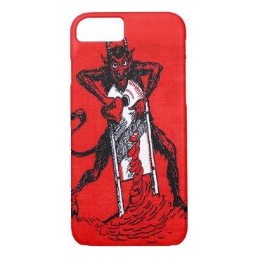 Halloween Themed Red Krampus Slicing Heart Heartbreaker iPhone 8/7 Case