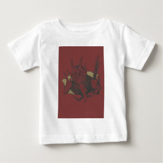 Red Krampus Smile Tongue Switch Baby T-Shirt