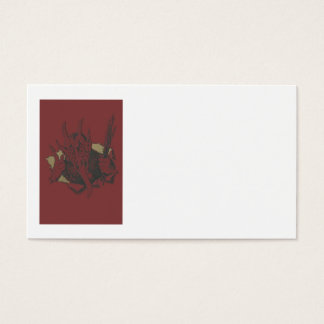 Red Krampus Smile Tongue Switch Business Card