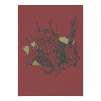 Red Krampus Smile Tongue Switch Card