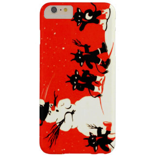 Red Krampus Snowball Fight Snowman Switch Barely There iPhone 6 Plus Case