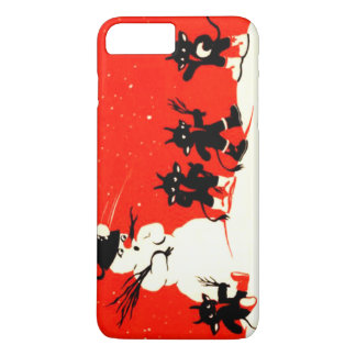 Red Krampus Snowball Fight Snowman Switch iPhone 7 Plus Case