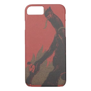 Halloween Themed Red Krampus Woman Kidnap Fire iPhone 8/7 Case