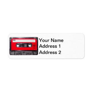 Red Label Cassette Return Address Label